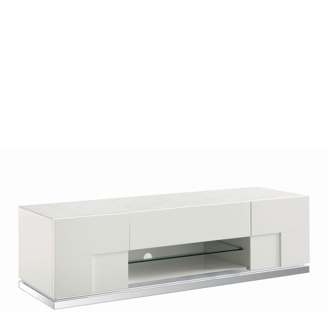 Bernini - TV Base White High Gloss