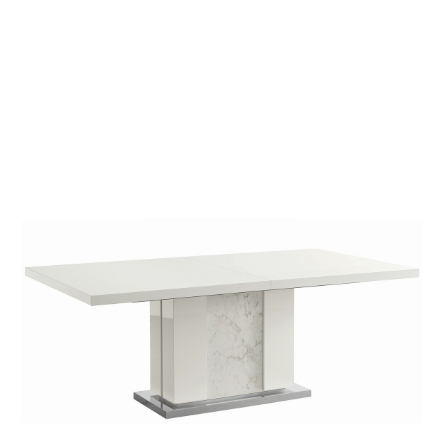 Bernini - 198cm Extending Dining Table White High Gloss