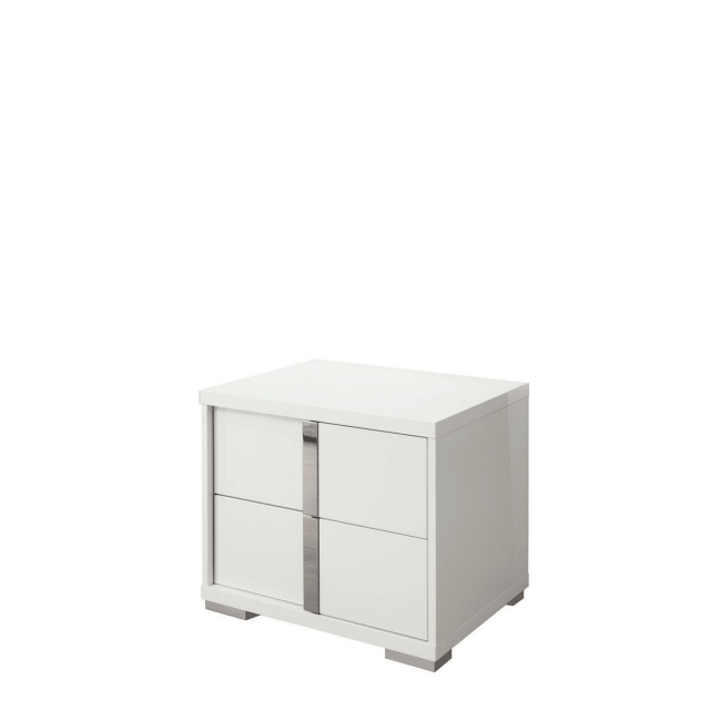 Selina - Left Night Stand In White High Gloss
