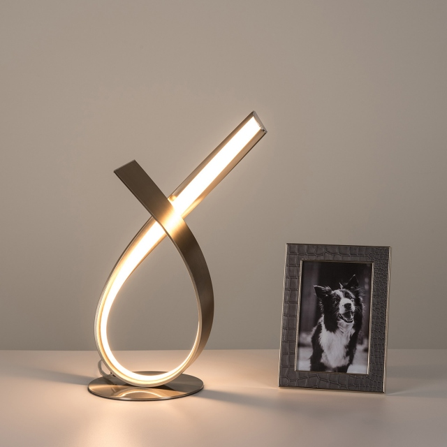 Hue LED Table Lamp Steel