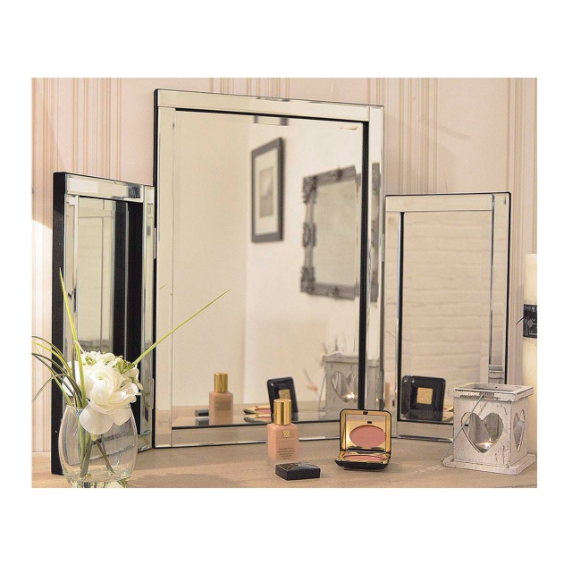 Bolzano Dressing Table Mirror Silver 77 x 54cm