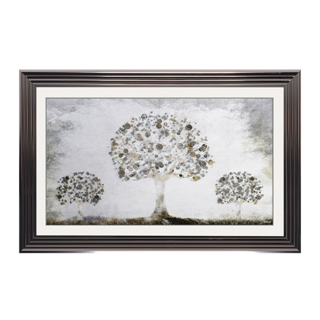 Money Tree Large Metallic Stepped Frame