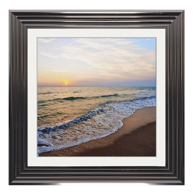 The Beach Liquid Art Metallic Stepped Frame