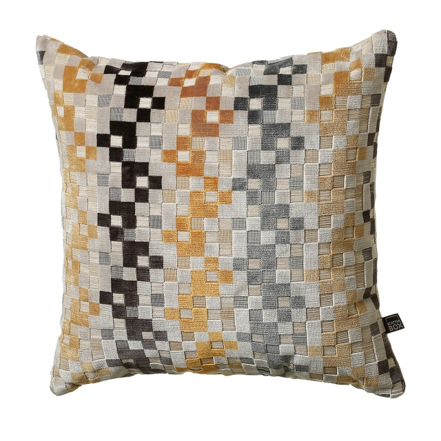 Puzzle Cushion Ochre