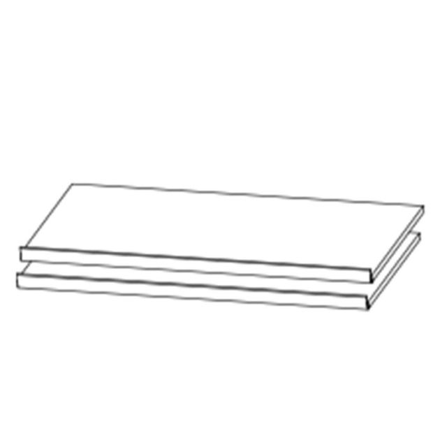 Reflection - 88cm Set Of 2 Shoe Shelves