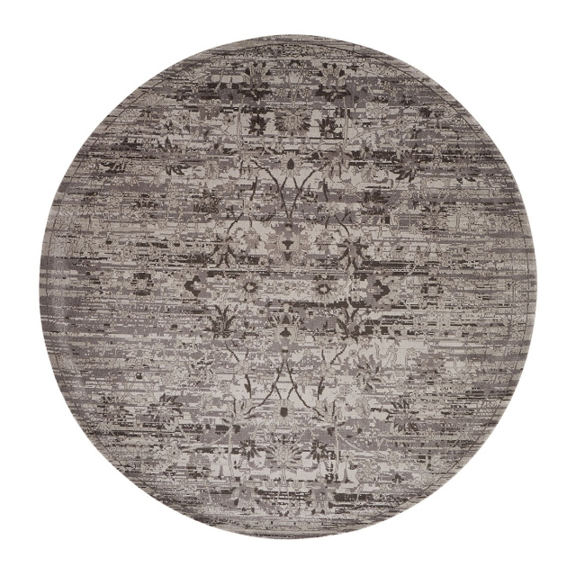 Twilight Rug TWI01 Silver Circle 244cm