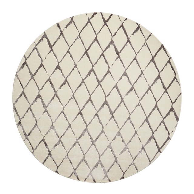 Twilight Rug TWI15 Grey/Ivory Circle 244cm