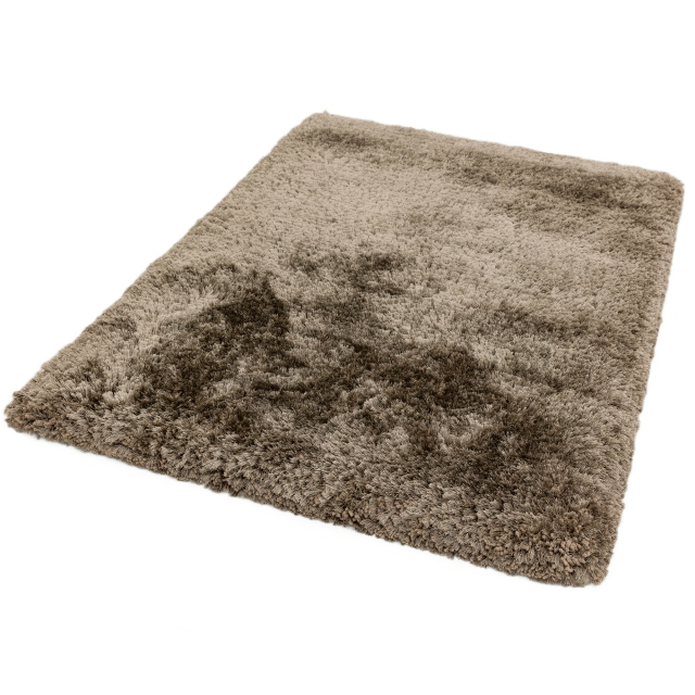 Plush Rug Taupe 150cm Circle