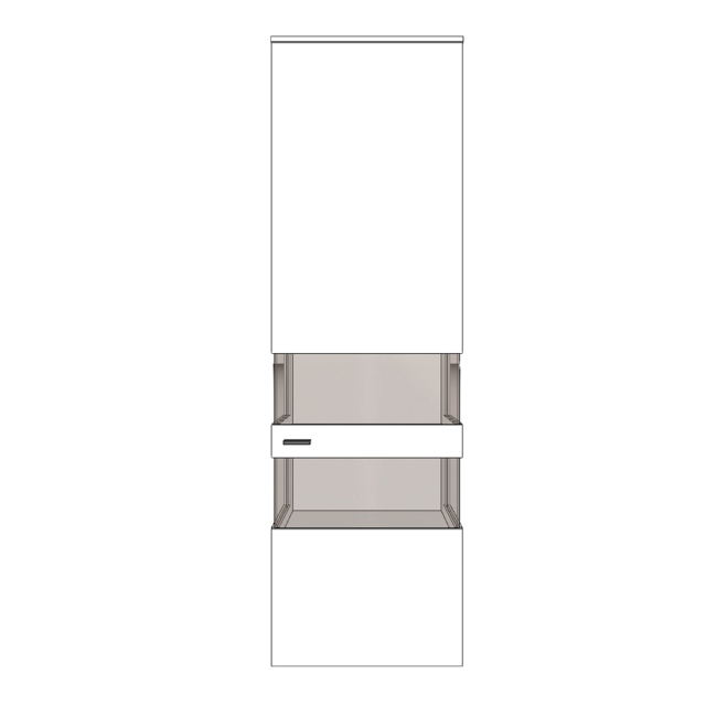 Varenna - HV9-402KR Display Unit With Two Glass Sides With Right Hinge