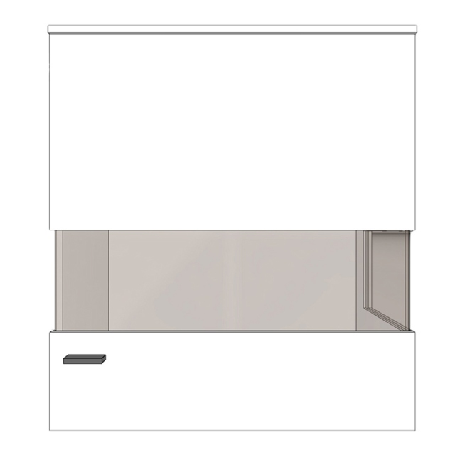 Varenna - HVR4-401 Wall Unit To Hang Freely Or For Panels Right Hinge