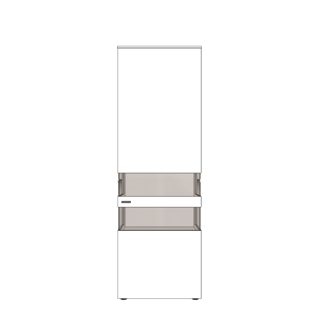 Varenna - UV11-402R Display Unit With Two Glass Sides With Right Hinge