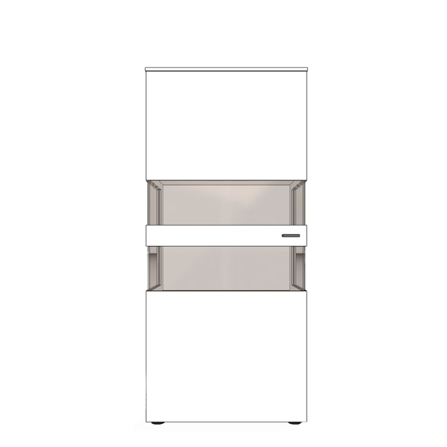 UV8-402L Display Unit With Two Glass Sides With Left Hinge - Varenna