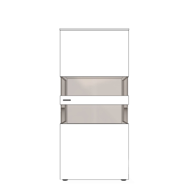 Varenna - UV8-402R Display Unit With Two Glass Sides With Right Hinge