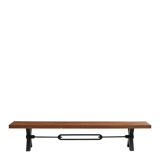 Colossus - Dining Bench Straight Edge Kansas Leg