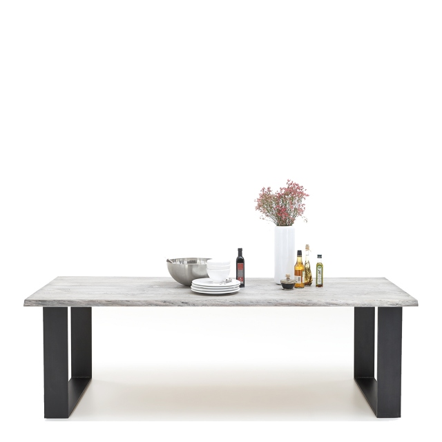 Dining Table Raw Edge U-Leg - Mondo