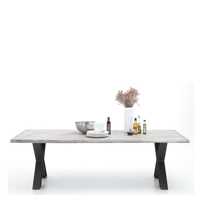 Mondo Dining Table Raw Edge X Leg Dining Tables Fishpools