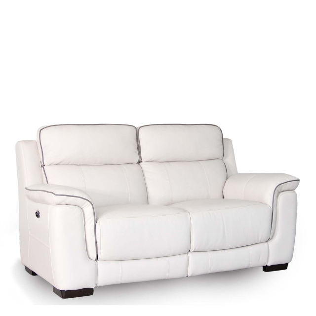 Monza Leather - 2.5 Seat Sofa With Double Power Recliner