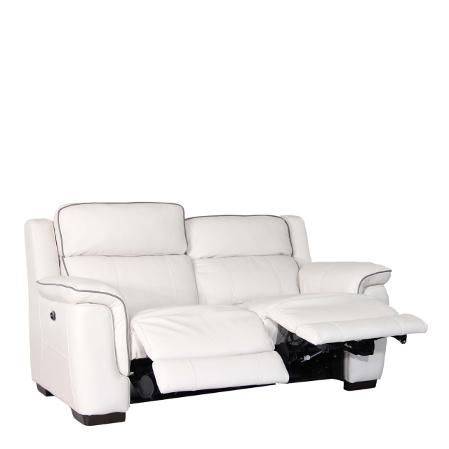 Monza Leather - 2 Seat Sofa With Double Power Recliner