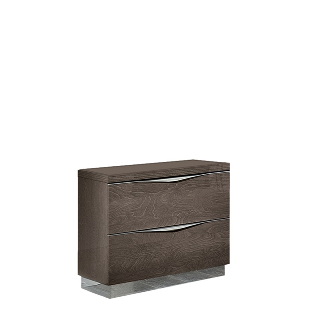 Treviso - Bedside Cabinet Small Silver Grey