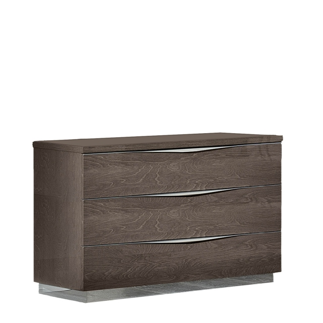 Treviso - Chest of 3 Drawers Silver Grey