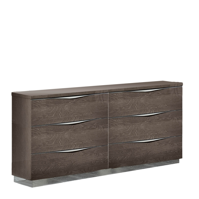 Treviso - Chest of 6 Drawers Silver Grey