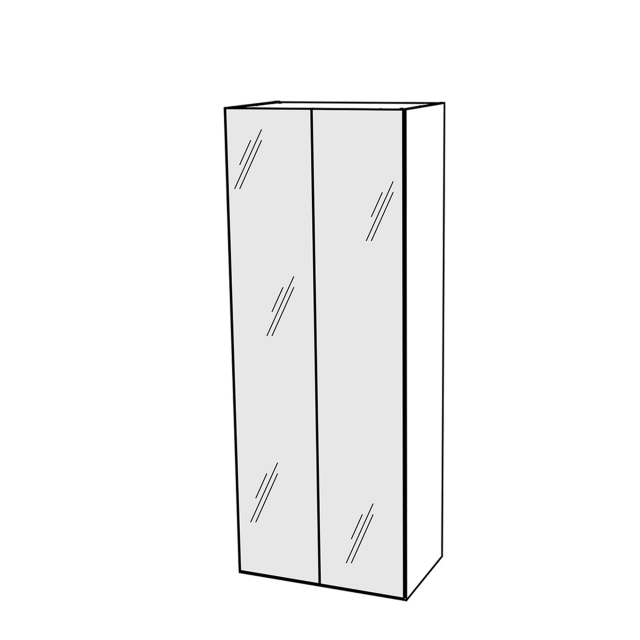 Treviso - Wardrobe 2 Glass Doors Silver Grey