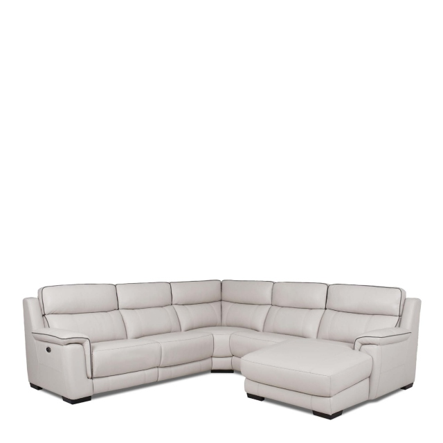 Monza Leather - RHF Chaise Corner Group In Cat 25 Full Leather