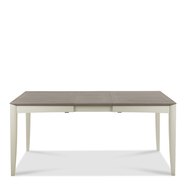 Bremen - 130cm Extending Dining Table In Grey Washed Oak With Soft Grey Finish