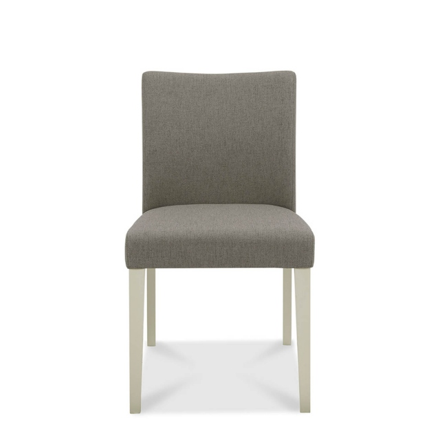 Bremen - Upholstered Dining Chair In Titanium Fabric With Washed Grey Frame