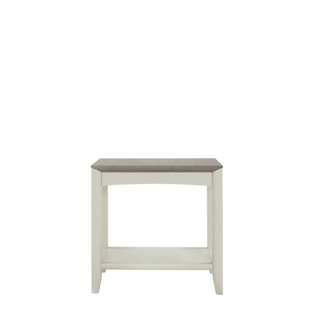 Bremen - Side Table In Grey Washed Oak With Soft Grey Finish