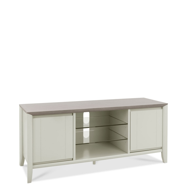 Bremen - Entertainment Unit In Grey Washed Oak With Soft Grey Finish