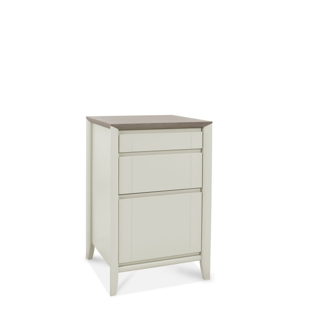 Bremen - Filing Cabinet In Grey Washed Oak With Soft Grey Finish