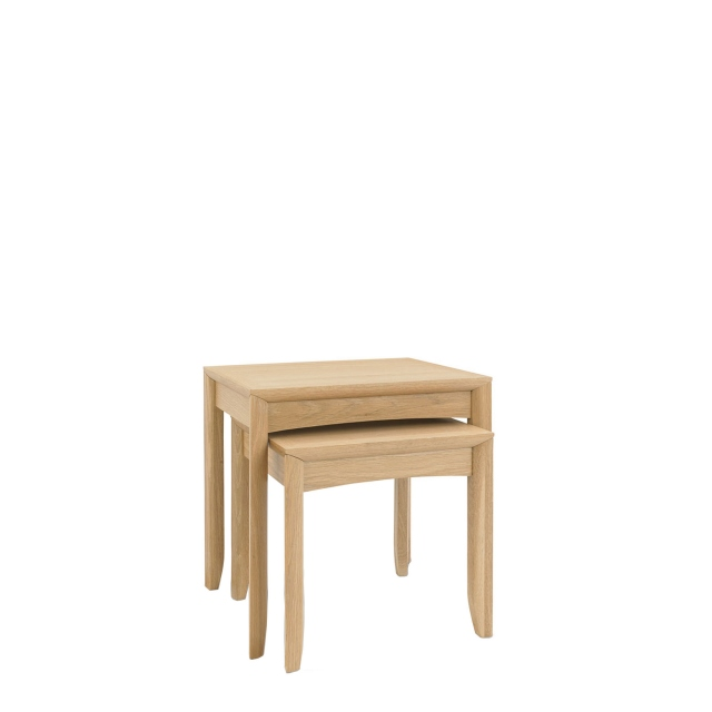Bremen - Nest Of Lamp Tables With Oak Finish