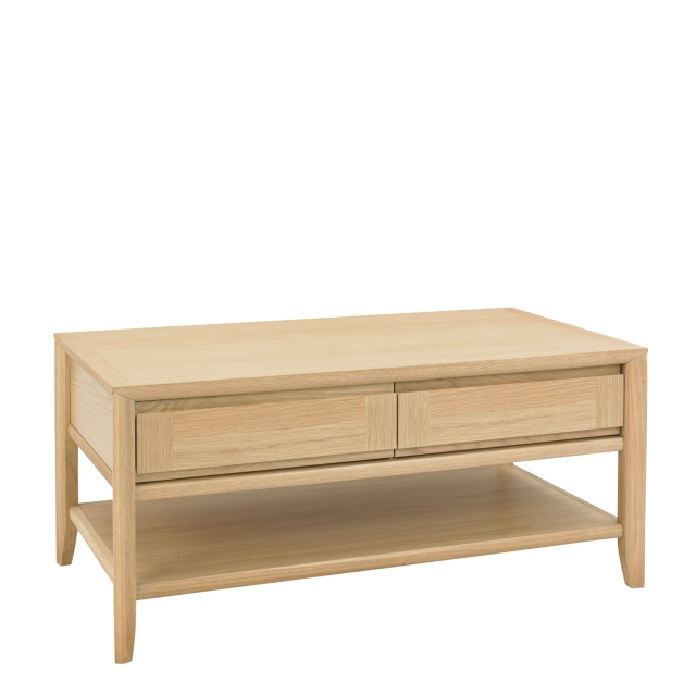 Bremen - Coffee Table With 1 Drawer With Oak Finish