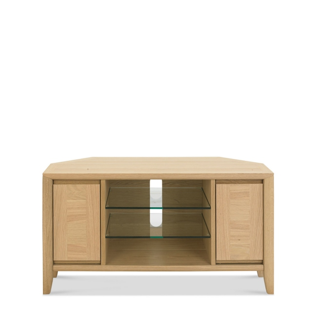 Bremen - Corner Entertainment Unit With Oak Finish