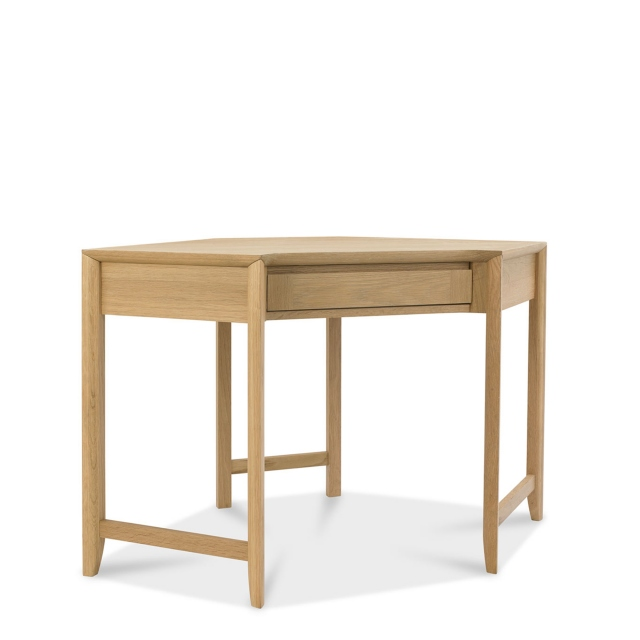 Bremen - Corner Desk With Oak Finish