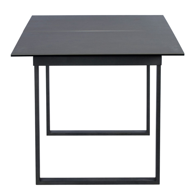 Livorno - 176cm Extending Ceramic Dining Table In Dark Grey