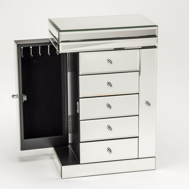 Palma Jewellery Chest - Mirrored