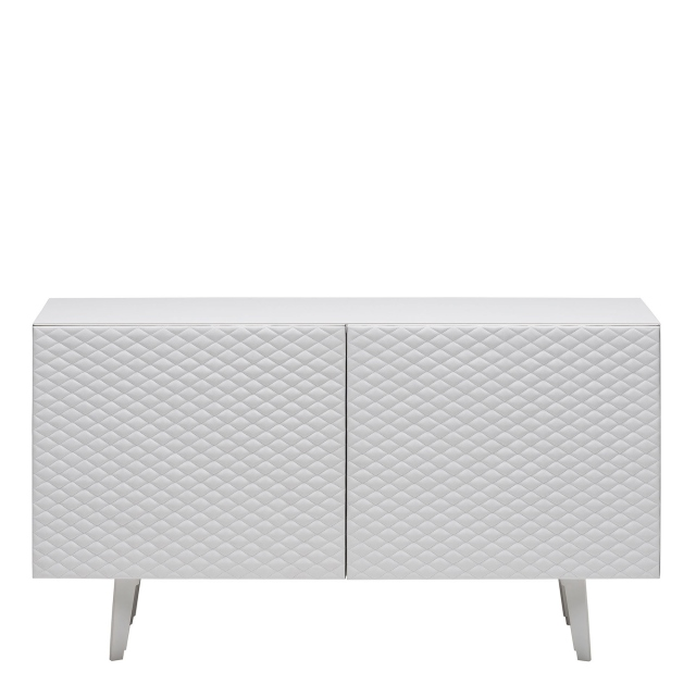 Cattelan Absolut - 2 Door Sideboard In GF69 Graphite Structure & Soft Leather Doors