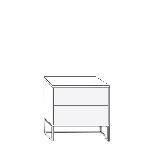 Coruna - 60cm 2 Drawer Bedside Cabinet 61cm High With Havana Glass Drawers