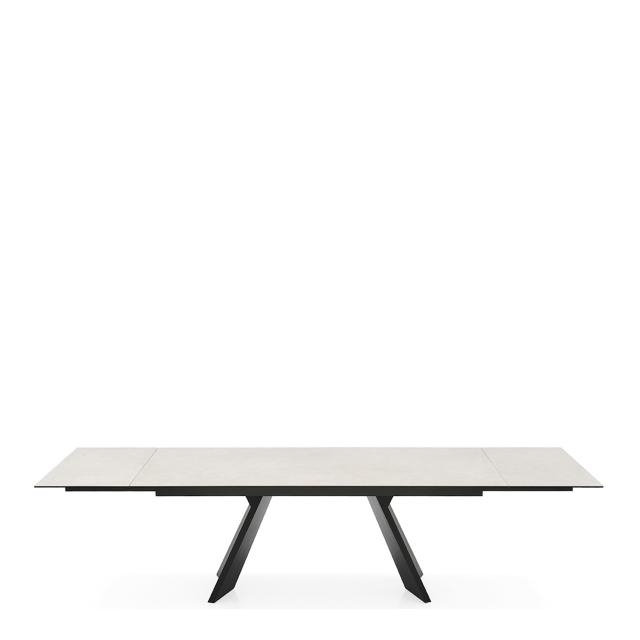 Calligaris Icaro - CS/4114-R-C 160cm Extending Dining Table Salt White Ceramic Top