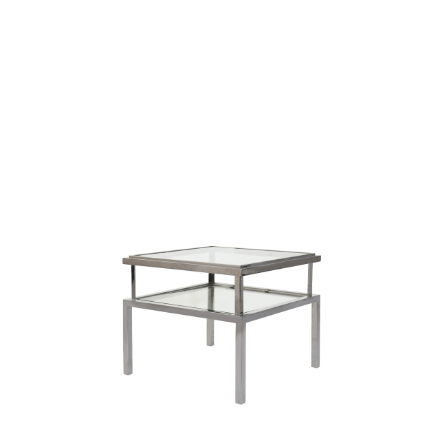 Grant - Side Table In Silver Stainless Steel