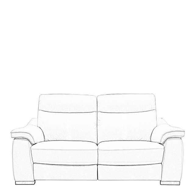 Caruso - 2.5 Seat Compact Sofa With 2 Power Recliners In Fabric