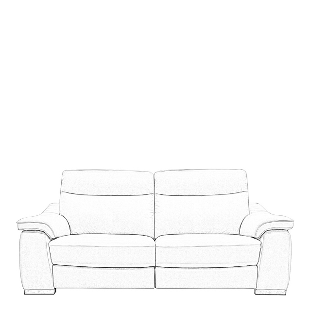 Caruso - 2.5 Seat Sofa With 2 Manual Recliners In Fabric