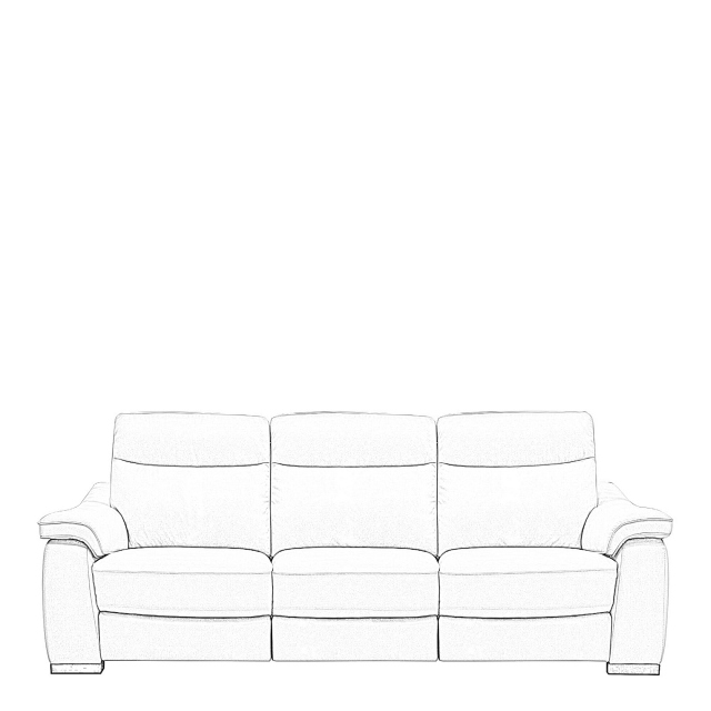 Caruso - 3 Seat Sofa With 2 Manual Recliners In Fabric