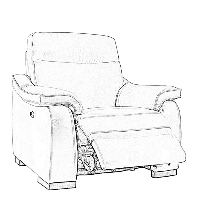 Caruso - Manual Recliner Chair In Fabric