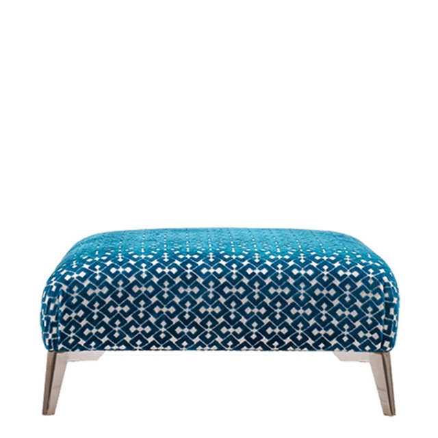 Scala - Designer Footstool In Accent Fabric