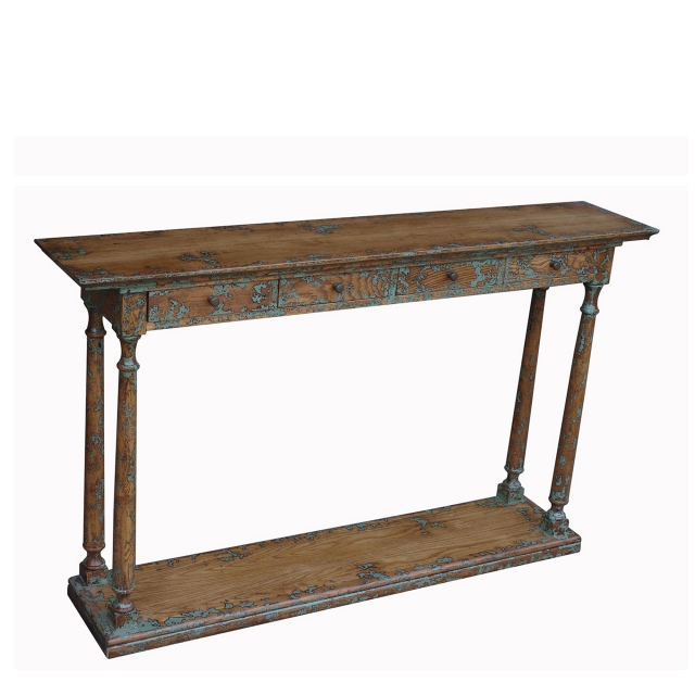 Memphis - 4 Drawer Narrow Console Table