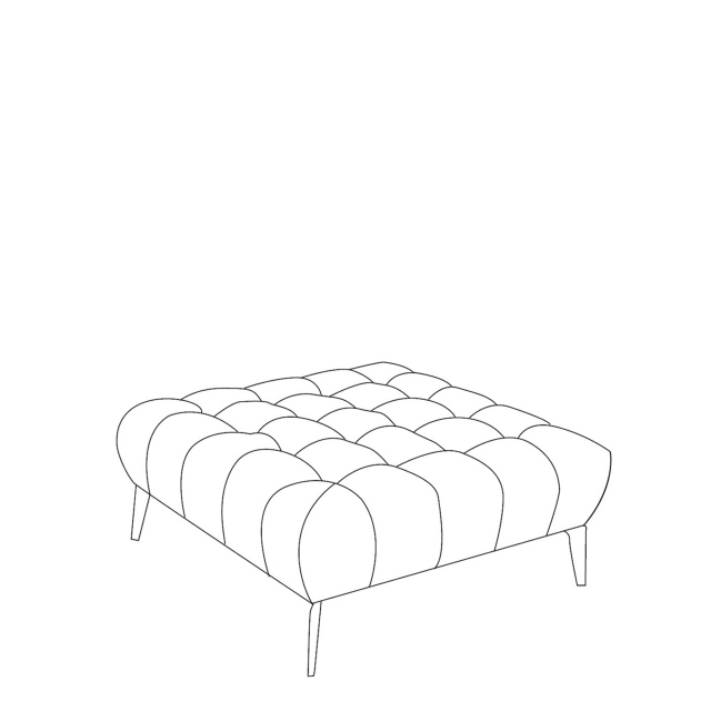 Vincenzo - Medium Square Footstool