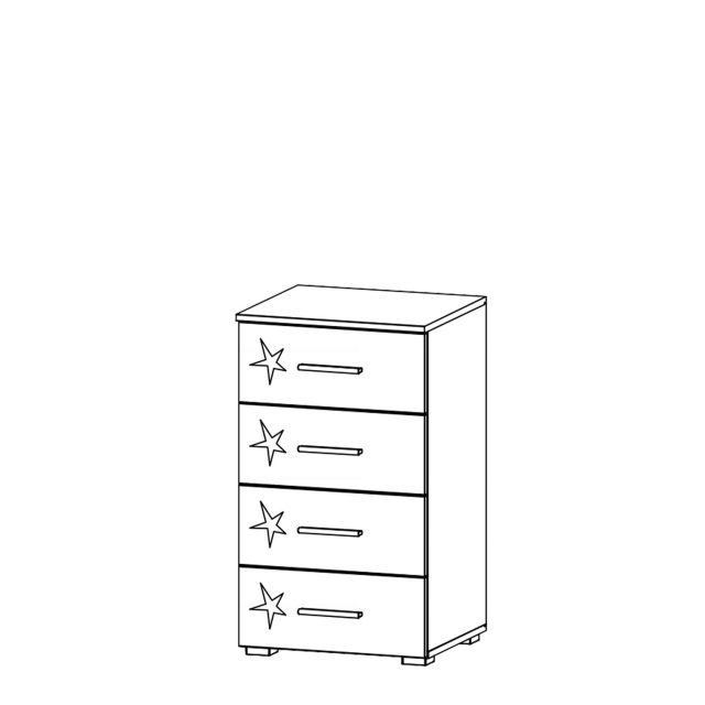 Cosmo - 4 Drawer Narrow Chest